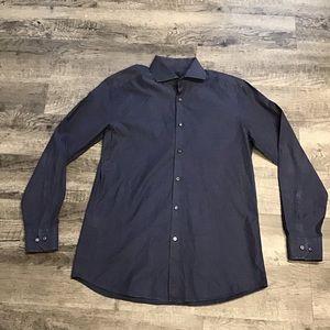 Hugo Boss slim fit button down shirt 42 16.5 L